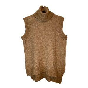 InWear | Mohair Wool Camel Turtleneck Sweater | Lg